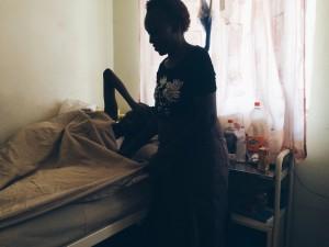 Rose nursing Olivia back to health, visiting morning, noon & night.